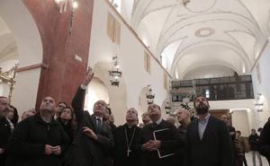 La rehabilitación interior de la iglesia de la Divina Pastora saca a luz pinturas murales del siglo XVIII