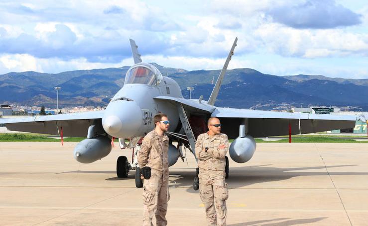 Los aviones F18 del ejercicio Dapex ya se preparan para las maniobras del miércoles