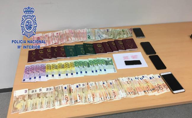 Detenidos 155 miembros de una red internacional de tráfico ilegal de ciudadanos chinos