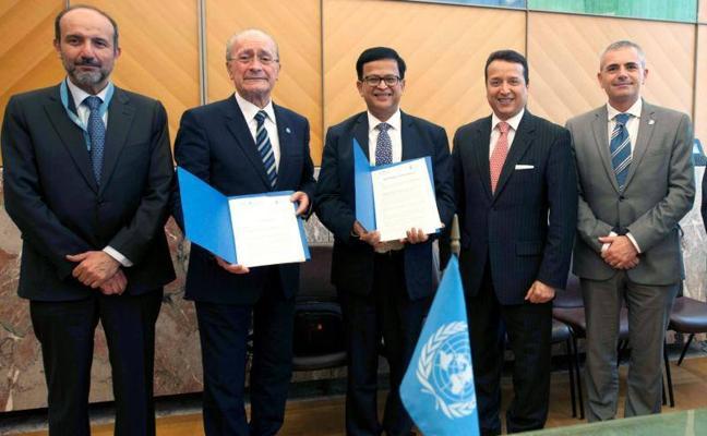 Málaga y la ONU firman el acuerdo para instalar un centro en la capital