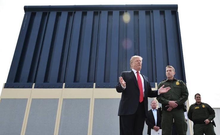 Visita de Trump al muro, en imágenes
