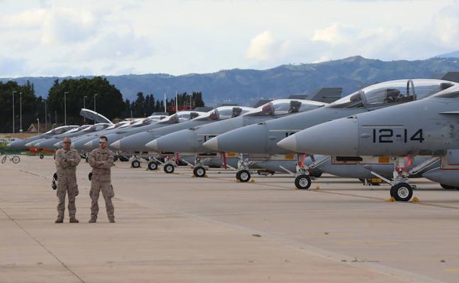 Doce cazas F-18 sobrevolarán Málaga en un ejercicio del Ejército del Aire