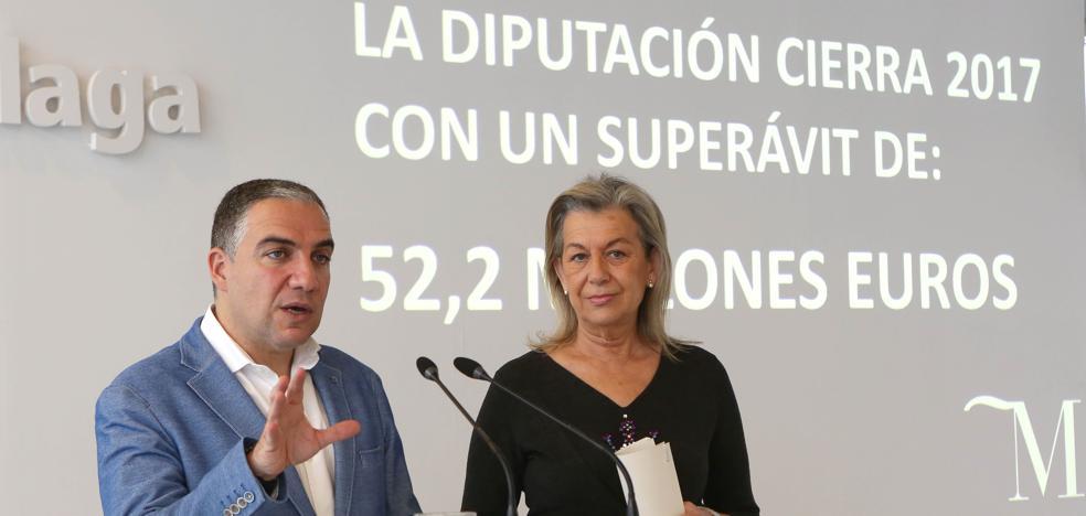 La Diputación de Málaga cierra 2017 con un superávit de 52 millones