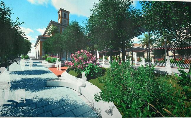 La Plaza de la Iglesia de San Pedro tendrá más zonas de sombra