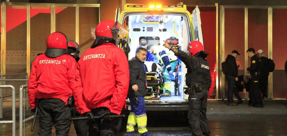 Heridos dos vigilantes de seguridad de San Mamés
