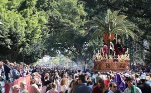 Metro de Málaga adapta el recinto de obras en la Alameda Principal para Semana Santa