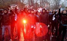 Quedan en libertad los tres ultras franceses detenidos en los incidentes en el estadio de San Mamés