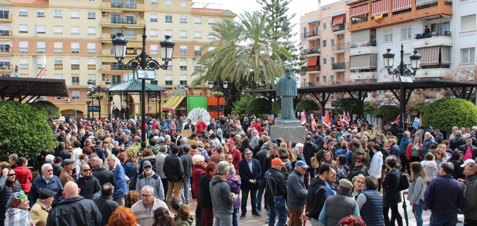 Las protestas en defensa de las pensiones llenan el centro de San Pedro