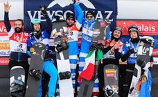 Regino, subcampeón del circuito de Copa del Mundo de snowboard cross por equipos
