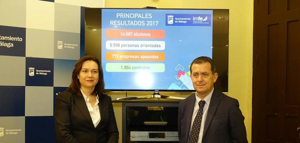 El IMFE contribuye a la contratación de casi dos mil personas en 2017 en Málaga