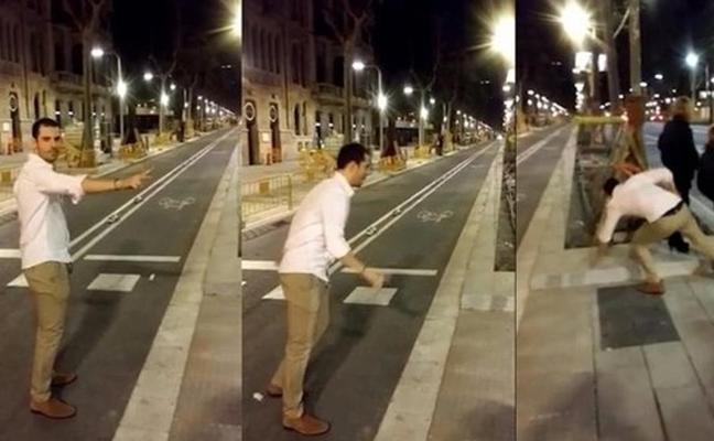 El acusado de agredir por la espalda a una joven en la Diagonal de Barcelona le paga 60.000 euros de indemnización