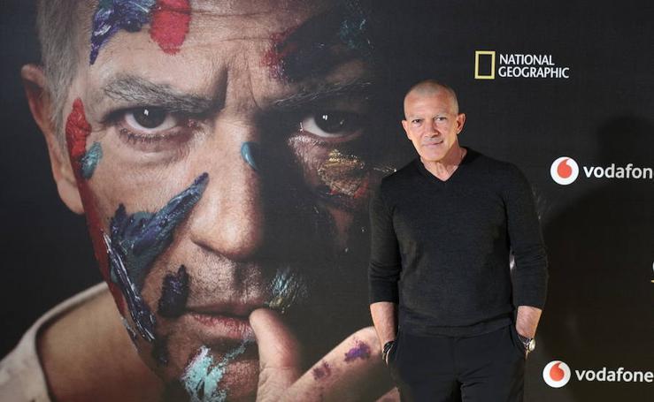 Antonio Banderas, en el photocall de la presentación de la serie Genius: Picasso'