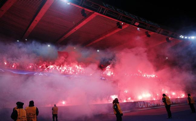 La UEFA cierra por un partido la grada norte del Parque de los Príncipes
