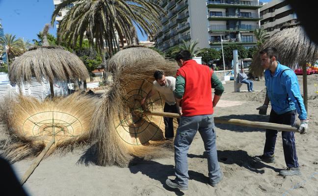 Los empresarios de playas de Marbella afrontan una Semana Santa incierta