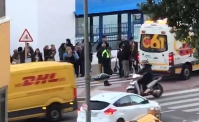Atropellan al conductor de un patinete eléctrico en uno de los primeros accidentes con estos vehículos en Málaga