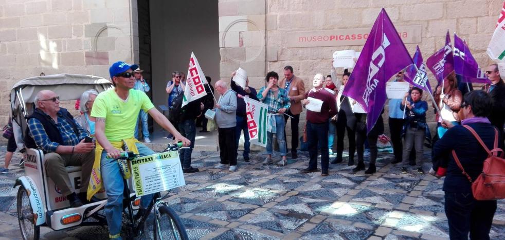 Segunda jornada de paro parcial de la plantilla del Museo Picasso Málaga