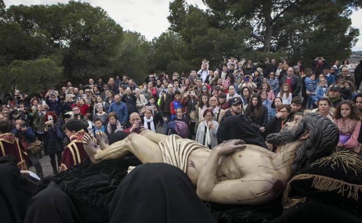 La Sagrada Mortaja y la Virgen del Monte Calvario en el Viernes Santo de Málaga 2018