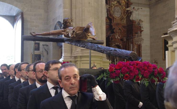 Vía Crucis de la Cofradía del Mutilado, en el Viernes Santo de Málaga 2018