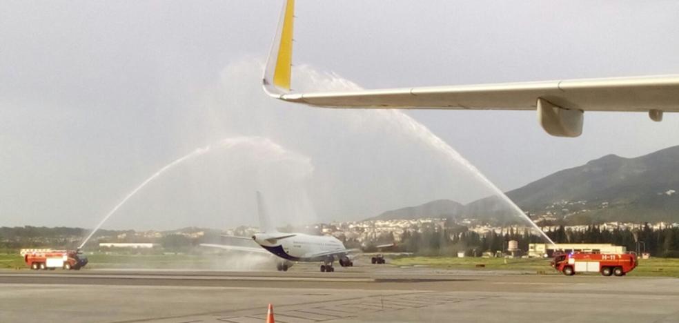 Bautizo del vuelo de Málaga a la capital de Malta