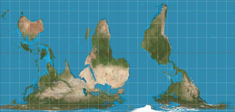 Las 'mentiras' del mapamundi
