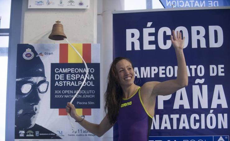 La primera jornada de los Campeonatos de España de Natación que se disputan en Málaga, en fotos
