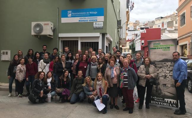 La barriada de Mangas Verdes se muestra a Europa con una jornada para Erasmus