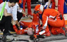 El mecánico atropellado por Räikkönen se recupera en el hospital