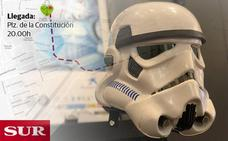Mapa: Recorrido del desfile de Star Wars de la Fundación Andrés Olivares