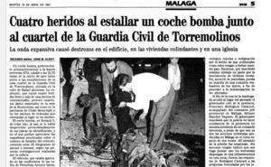 Cuando el cuartel de la Guardia Civil de Torremolinos fue blanco de ETA