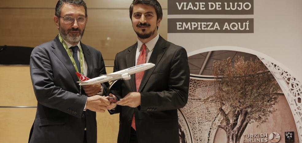 Turkish Airlines elevará en junio su oferta a dos vuelos diarios de Málaga a Estambul