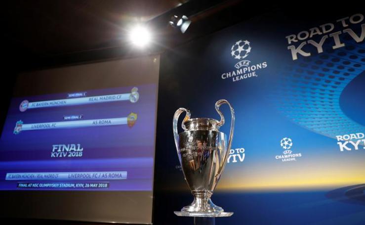 Las mejores imágenes del sorteo de semifinales de Champions