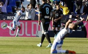 El Leganés gana al Celta por Guerrero