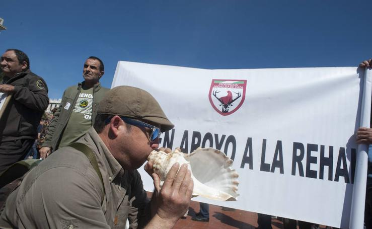 En fotos, la caza se reivindica y pide respeto en Málaga