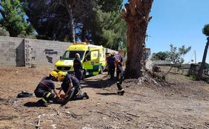 Asisten a una mujer herida cuando hacía una ruta en los Molinos de San Telmo en Málaga