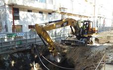 Colocan los últimos muros-pantalla del túnel del metro de Málaga en la Alameda Principal
