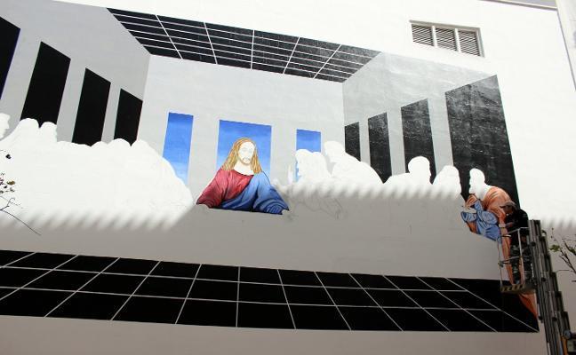 Una recreación de 'La última cena' de Da Vinci se suma a la Ruta de los Murales Artísticos