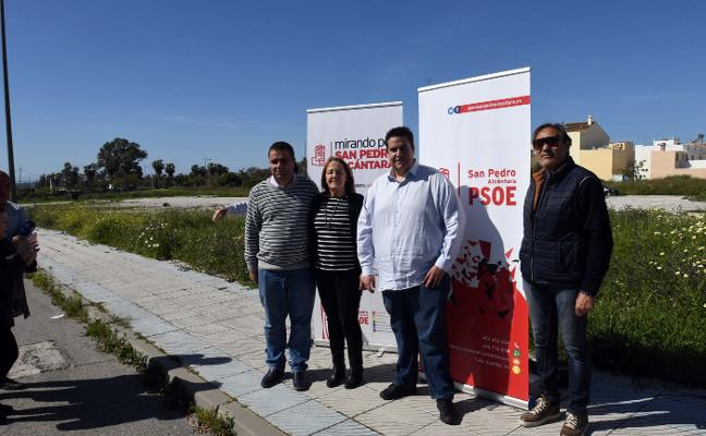 El PSOE exige que se urbanice sin demora el suelo donde irá el instituto de San Pedro
