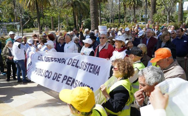 NUEVA PROTESTA DE LOS JUBILADOS EN MÁLAGA