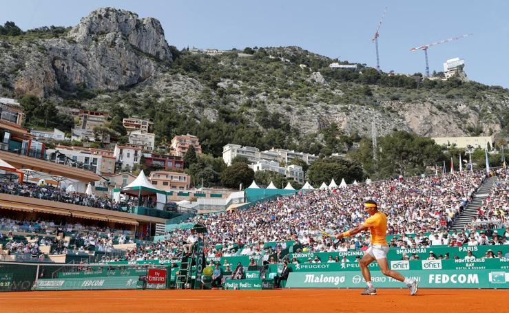 El estreno de Rafa Nadal en Montecarlo, en imágenes