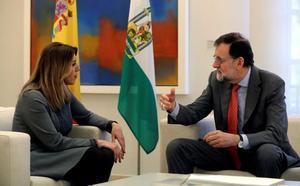 Rajoy recibe a Susana Díaz en Moncloa para tratar la financiación autonómica