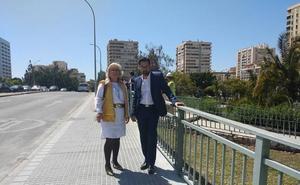El Ayuntamiento de Málaga destina 180.000 euros a la mejora del Puente de las Américas, que finalizará en junio