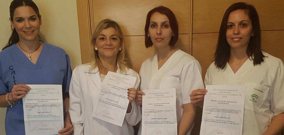 Cuatro enfermeras del Clínico de Málaga, premiadas por cuidados a pacientes con asma
