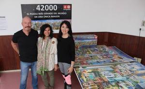 Empiezan a montar el puzle más grande del mundo en Málaga
