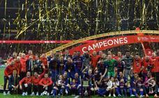 Iniesta se autohomenajea con otra Copa