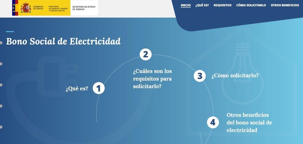 El Gobierno crea una web para recordar la posibilidad de acogerse al bono social