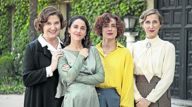Ana Wagener, Macarena García, Patricia López Arnaiz y Cecilia Freire, protagonistas de 'La otra mirada'./TVE