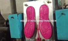 La primera zapatilla fabricada con goma de mascar