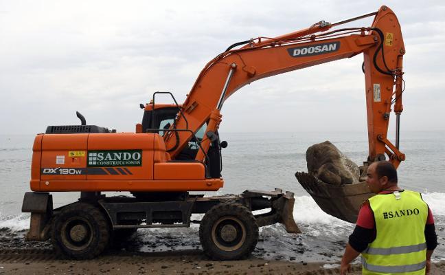 Arrancan las obras en las playas, que estarán listas en junio