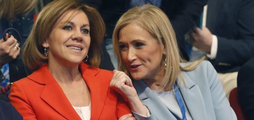 Cifuentes reconoce el apoyo de Cospedal en su carta de renuncia al PP de Madrid