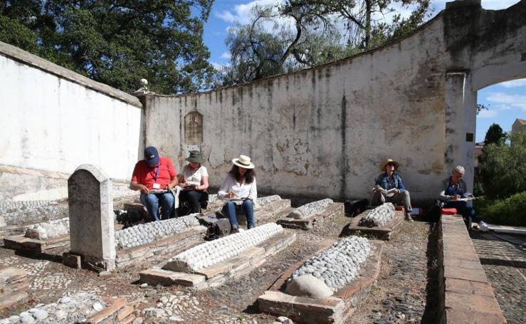 Fotos de la quedada de urban sketchers en el Cementerio Inglés